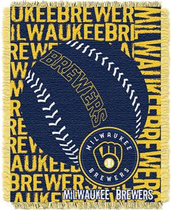 Northwest MLB Milwaukee Brewers Jacquard Throws