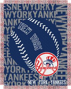Northwest MLB New York Yankees Jacquard Throws