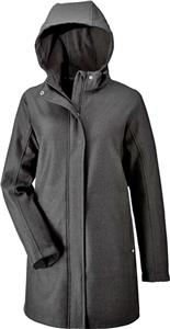 North End Ladies Textured City Soft Shell Jacket