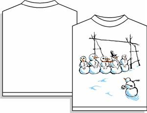 Frosty Freekick (Long-Sleeved) soccer tshirt