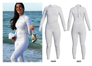 To Exceed Womens Empress White 3/2mm Full Wet Suit