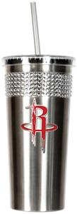 NBA Houston Rockets Bling Tumbler w/ Straw
