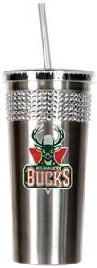 NBA Milwaukee Bucks Bling Tumbler w/ Straw