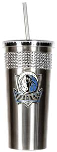 NBA Dallas Mavericks Bling Tumbler w/ Straw