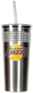 NBA Los Angeles Lakers Bling Tumbler w/ Straw