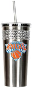 NBA New York Knicks Bling Tumbler w/ Straw