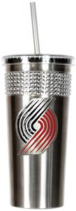 NBA Portland Trailblazers Bling Tumbler w/ Straw