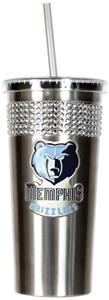 NBA Memphis Grizzlies Bling Tumbler w/ Straw