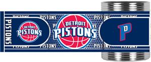 NBA Detroit Pistons Metallic Wrap Can Holders