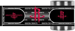 NBA Houston Rockets Metallic Wrap Can Holders
