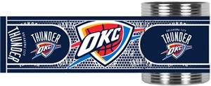 NBA Oklahoma City Thunder Metallic Wrap Can Holder