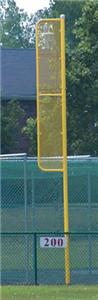 Baseball Professional 20&#39; Foul Pole Yellow (Pair)