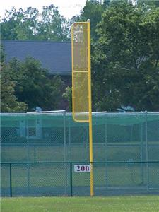 Baseball Professional 30' Foul Pole Yellow 1-PAIR