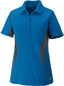 North End Sport Serac Ladies Zippered Polo