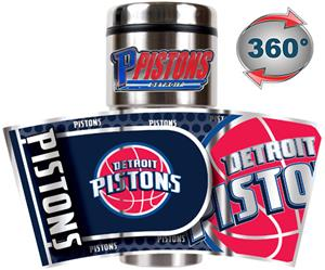 NBA Detroit Pistons 16oz Tumbler w/ Metallic Wrap