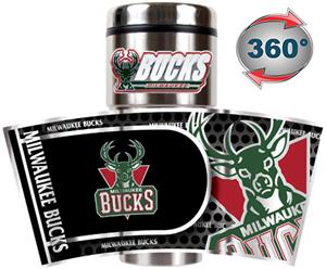 NBA Milwaukee Bucks 16oz Tumbler w/ Metallic Wrap