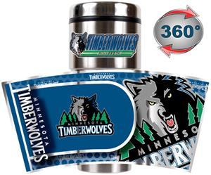 Minnesota Timberwolves Tumbler w/ Metallic Wrap