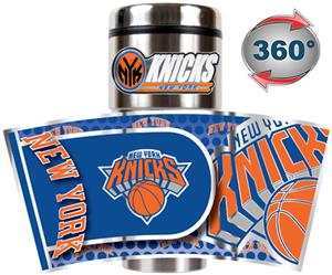 NBA New York Knicks 16oz Tumbler w/ Metallic Wrap