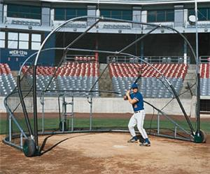 The Little Slam Collegiate Style Portable Bat Cage