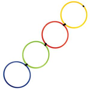 Champion Sports Multi-Colored Hoop Agility Ladder