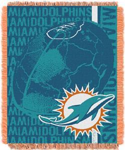 Northwest NFL Miami Dolphins Jacquard Throws