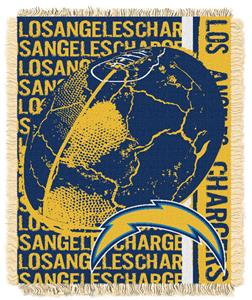 Northwest NFL LA Chargers Jacquard Throws