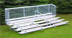 21&#39; Five row Bleacher With Guard Rail &amp; Aisle