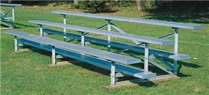 3 Row Aluminum or Steel Bleachers (2 Sizes)