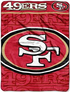 Northwest NFL 49ers Micro Raschel Throws