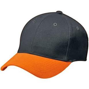 High 5 Cotton Twill 6-Panel 2-Color Baseball Caps