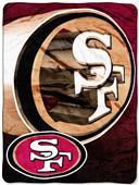 Northwest NFL 49ers Micro Raschel Throws