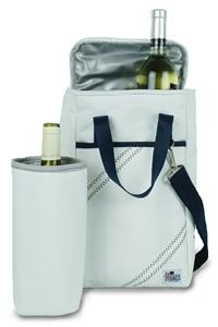 Sailorbags 2-Bottle Insulated Sailcloth Wine Tote