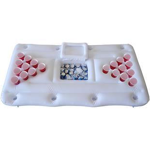 P&P Imports Pool Pong Party Barge with Cooler