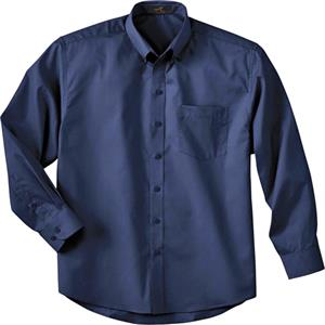 Ash City Mens Long Sleeve Shirt With Teflon