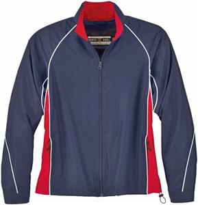 North End Ladies Woven Twill Athletic Jacket