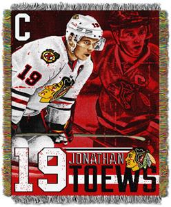 Northwest NHL Blackhawks Jonathan Toews Throws