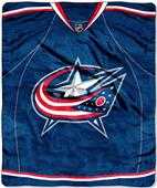 Northwest NHL Columbus Blue Jackets Raschel Throws