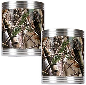 Realtree Open Field 2pc Camo Can Holder Set