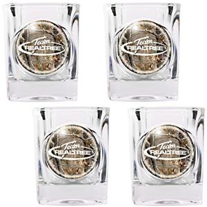 Team Realtree 4pc Square Shot Glass Set