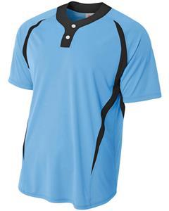 A4 2-Button Henley Baseball Jerseys  CO