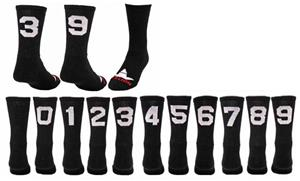 "Red Lion ""Solid Numbers"" Black Crew Socks"