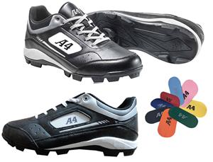 A4 MVP Molded Rubber Baseball Cleats - Closeout