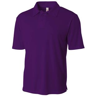 A4 Adult Solid Interlock Polo Shirts