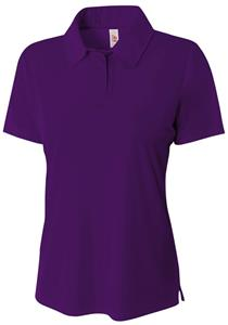 A4 Women's Solid Interlock Polo Shirts