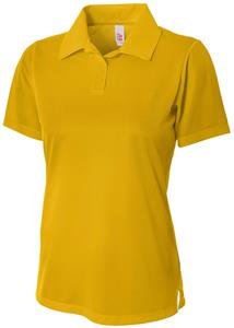 A4 Women's Textured Polo Shirts with Johnny Collar