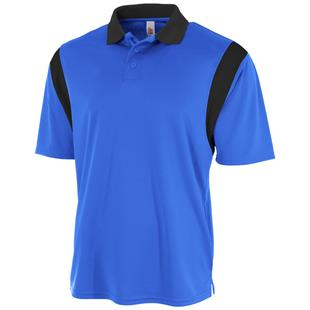 A4 Adult Color Blocked Polo Shirt with Knit Collar