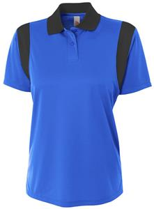 A4 Women's Color Blocked Polo Shirt w/ Knit Collar