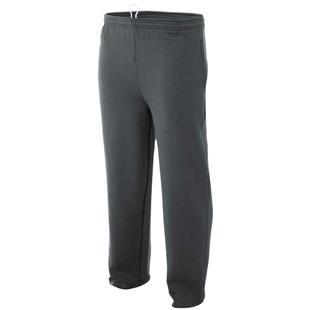 A4 Adult Open Bottom Pocketed Fleece Pants