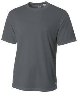 A4 Adult Short Sleeve Crew Birds Eye Mesh T-Shirts