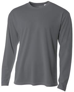 A4 Adult LS Crew Birds Eye Mesh T-Shirts CO